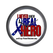 Never Knew A Hero 2 Military (Friend) Wall Clock