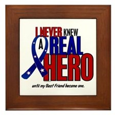 Never Knew A Hero 2 Military (Best Friend) Framed