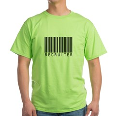 Recruiter Barcode Green T-Shirt