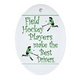 Field Hockey - Green -  Keepsake (Oval)