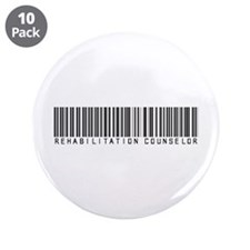 "Rehabilitation Counselor Barcode 3.5"" Button (10 p"