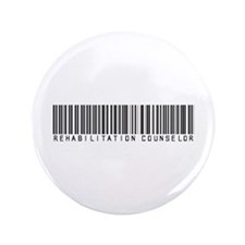"Rehabilitation Counselor Barcode 3.5"" Button"