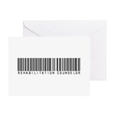 Rehabilitation Counselor Barcode Greeting Cards (P