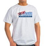 Stop the ACLU.com Ash Grey T-Shirt