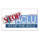 Stop the ACLU.com Rectangle Sticker