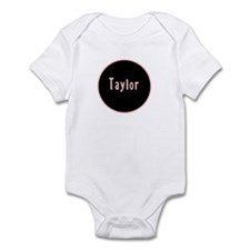 Taylor - Pink Name Circle Infant Bodysuit