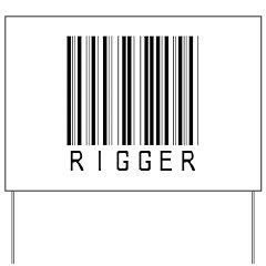 Rigger Barcode Yard Sign