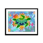 Flame Turtle Framed Panel Print