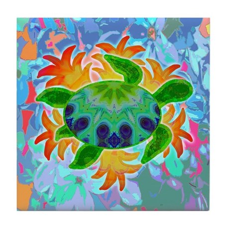 Flame Turtle Tile Coaster