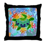 Flame Turtle Throw Pillow