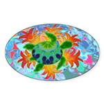 Flame Turtle Sticker (Oval 50 pk)