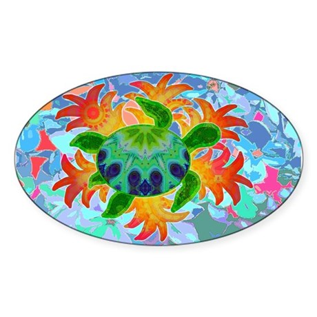 Flame Turtle Sticker (Oval)