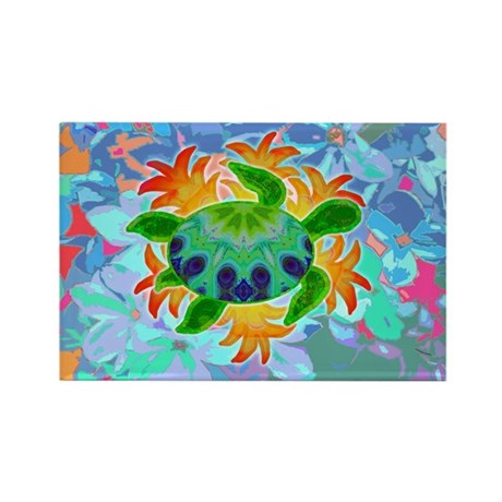 Flame Turtle Rectangle Magnet (100 pack)
