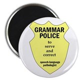 "Grammar Police Speech Language Pathologist 2.25"" M"