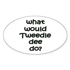 Tweedledee Oval Decal
