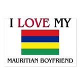 I Love My Mauritian Boyfriend Postcards (Package o