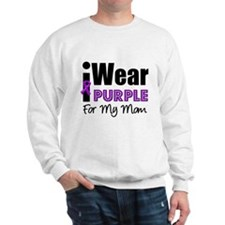 Purple Ribbon Mom Sweatshirt