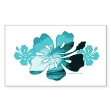 Hibiscus Surf - Rectangle Sticker 50 pk)