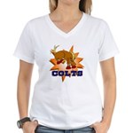 Colts Mascot Women's V-Neck T-Shirt