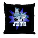 Jets Mascot Throw Pillow