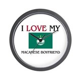 I Love My Macanese Boyfriend Wall Clock
