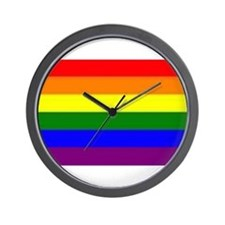Rainbow Flag Wall Clock