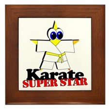 Karate Super Star Framed Tile