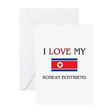 I Love My Korean Boyfriend Greeting Card