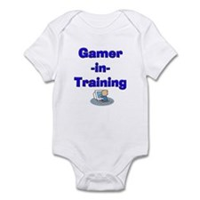 Gamer-in-Training (Blue) Onesie/Creeper