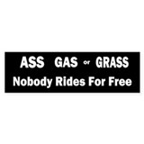 Ass Gas Grass Bumper Car Sticker