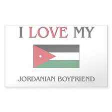 I Love My Jordanian Boyfriend Rectangle Decal