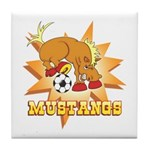 Mustangs Soccer Tile Coaster