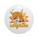 Mustangs Soccer Ornament (Round)