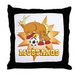 Mustangs Soccer Throw Pillow