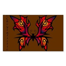Red Butterfly Rectangle Decal