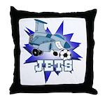 Jets Soccer Mascot Throw Pillow