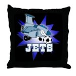 Jets Soccer Mascot Throw Pillow