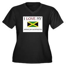 I Love My Jamaican Boyfriend Women's Plus Size V-N
