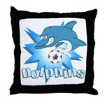 Dolphins Soccer Throw Pillow