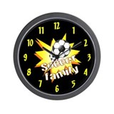Soccer Family Wall Clock