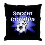Soccer Grandpa Throw Pillow