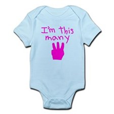 I'm This Many 3 Infant Bodysuit