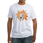 Soccer Grandma Fitted T-Shirt