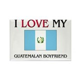 I Love My Guatemalan Boyfriend Rectangle Magnet (1