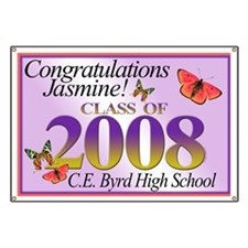 "Congratulations Jasmine 44"" x 30"" Banner"