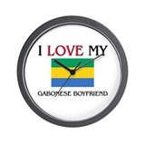 I Love My Gabonese Boyfriend Wall Clock