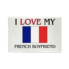 I Love My French Boyfriend Rectangle Magnet