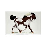 Black Overo Paint Horse Rectangle Magnet