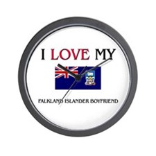 I Love My Falkland Islander Boyfriend Wall Clock