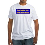 1 Dollar Gas Fitted T-Shirt